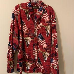 Bit and Bridle Men's Button Up Shirt size XL